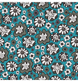 Hand drawn floral seamless patterns ornaments in vector image
