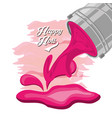 happy holi design vector image vector image