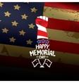Happy Memorial Day background vector image vector image
