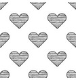 heart seamless pattern sketch vector image
