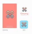hearts blocks company logo app icon and splash vector image