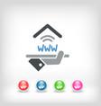 hotel icon wi-fi service vector image