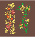 khokhloma russian pattern design vector image