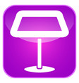 lamp app icon vector image