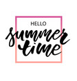 lettering with phrase summer time gradient vector image