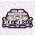 logo for flower shop vector image