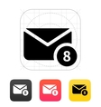 Mail with numbers icon vector image vector image