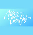 merry christmas handwriting script lettering on a vector image vector image