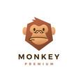 monkey chimp gorilla flat logo icon vector image vector image