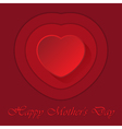Mothers Day card with heart and contours vector image vector image