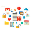 office concept banner trendy flat design vector image