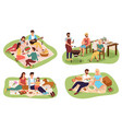 picnic people happy groups young women vector image