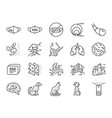 pm25 air pollution line icon set vector image vector image