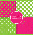 polka dot seamless pattern background set pink vector image vector image