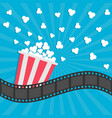 popcorn popping cinema movie icon in flat design vector image vector image