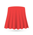 red silk cloth covered object vector image