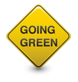 road sign - going green vector image vector image