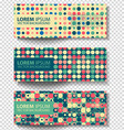 set of colored rectangular banners vector image