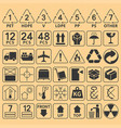 set of packaging symbol collection vector image vector image