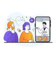 smartphone screen with male therapist on video vector image