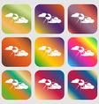 sun behind cloud sign icon vector image