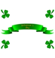 Tape greeting card St Patrick vector image