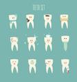 teeth icon set concept of healthy vector image