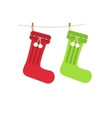 Traditional Christmas knitted stocking for vector image vector image