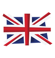 UK flag of United Kingdom vector image vector image