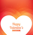 valentines day greeting design vector image vector image