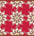 vintage outline flower print tender fabric vector image