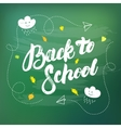 Back to school hand written lettering on vector image