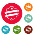 badge business icons circle set vector image