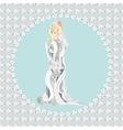 bride with bouquiet vector image