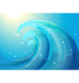 An abstract of a wave vector image vector image