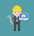 architecture cute character professional set flat vector image vector image