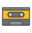 audio cassette filled outline icon music vector image