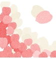 Background of pink flower petals vector image