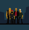 bandits from outskirts city vector image