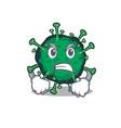 bat coronavirus cartoon design with angry face