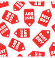best buy hang tag seamless pattern background vector image vector image