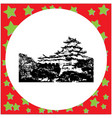black 8-bit himeji castle isolated vector image vector image