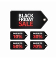 black friday sale tag easy editable eps 10 vector image vector image