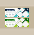 blue green abstract corporate business banner vector image vector image