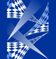 blue white modern futuristic design 3d grid and vector image vector image