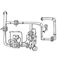 Boiler room vector image vector image