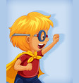 boy wearing superhero with stranglehold position vector image