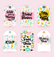 bridal shower greeting gift labels vector image vector image