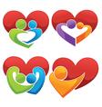 bright love vector image