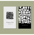 Business cards people crowd for your design vector image vector image